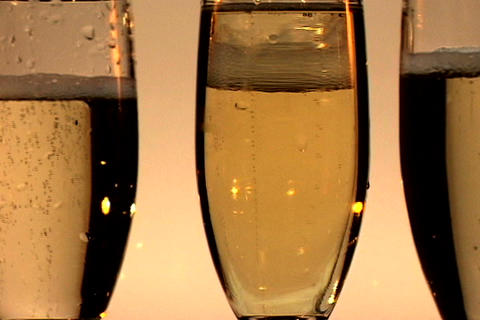 Four Champagne Glasses Spin 2 Footage