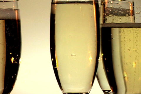 Four Champagne Glasses Spin 2 Stock Video Footage