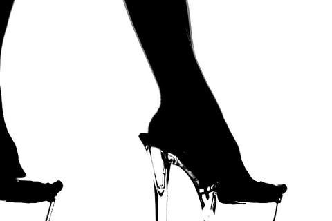 High Heels Walk Silhouette Stock Video Footage