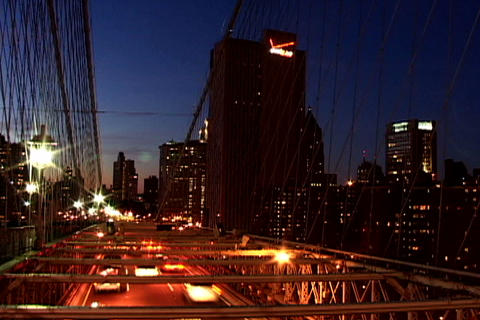 Traffic on New York Bridge Shutter Footage