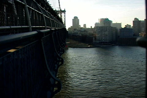 New York bridge cityscape Stock Video Footage