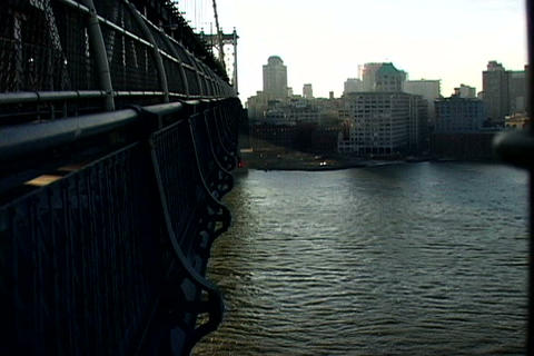 New York bridge cityscape Stock Video Footage
