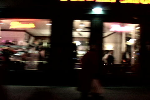 New York sidewalk at night Stock Video Footage