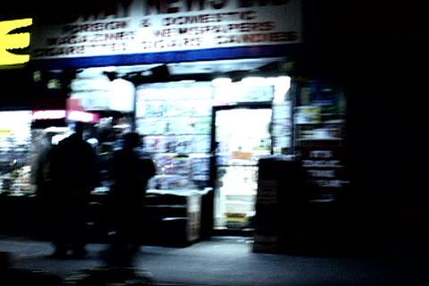 New York sidewalk at night Live Action