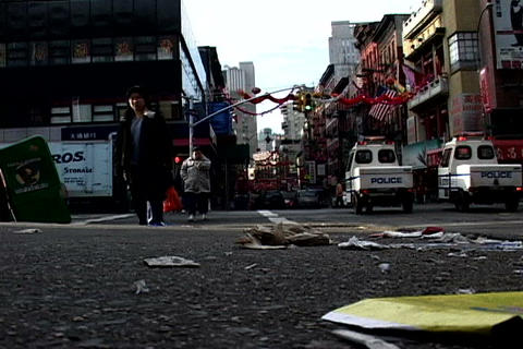 Chinatown traffic, New York Footage