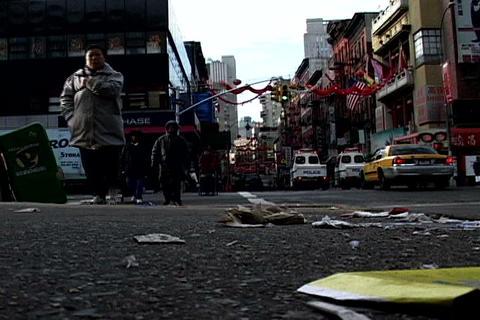 Chinatown traffic, New York Stock Video Footage