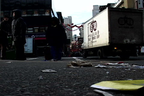 Chinatown traffic, New York Stock Video Footage