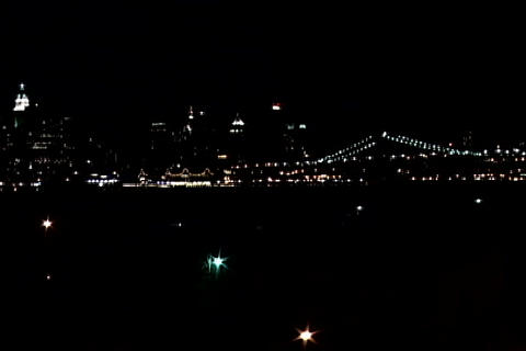 New York city lights wide shot 1 Footage