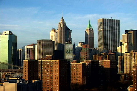 Manhattan skyline Stock Video Footage