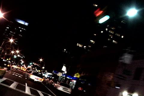 New York traffic at night Footage