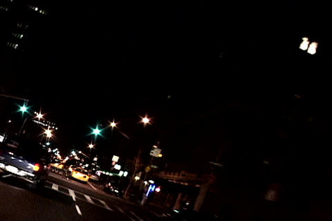 New York traffic at night Stock Video Footage