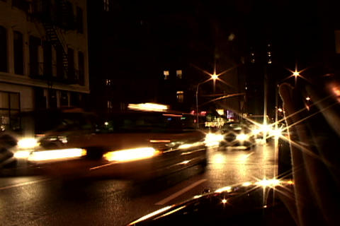 New York traffic at night Footage
