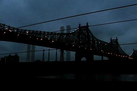 Drive under New York Bridge Stock Video Footage