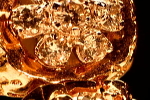 Close up of gold rings Stock Video Footage