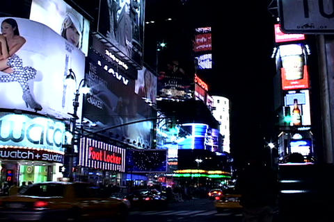 Times Square night view Stock Video Footage