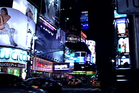 Times Square night view Footage