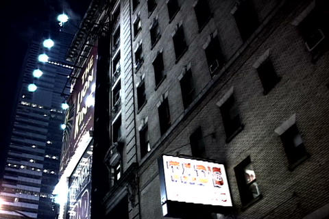 Times Square skyline at night, New York Footage