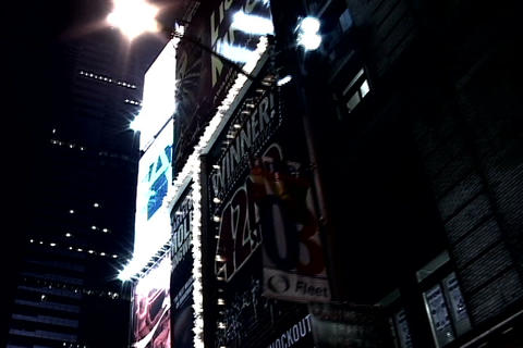 Times Square skyline at night, New York Stock Video Footage
