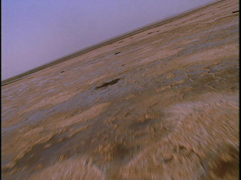 Puddles spot the salt flats Stock Video Footage