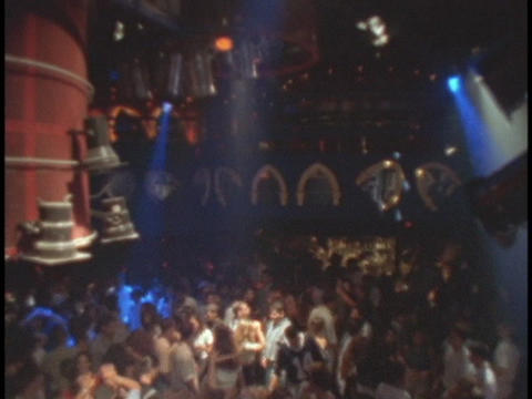 Dancers dance at a night club Stock Video Footage