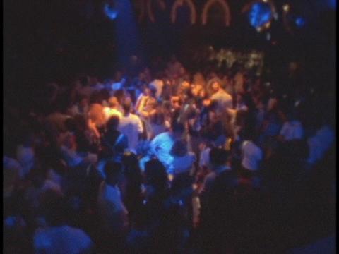 Dancers dance at a night club Footage