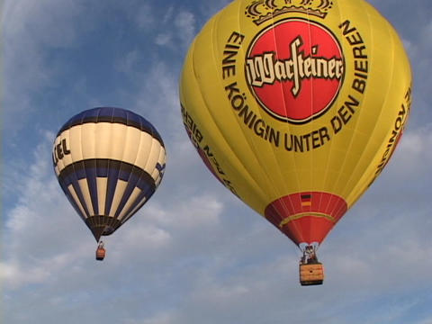 Hot Air Balloons Take Off At The Albuquerque Balloon Festival. stock footage