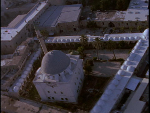 A Muslim mosque occupies a portion of Israel Footage