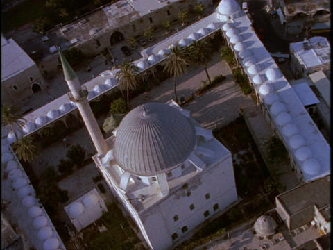 A Muslim mosque occupies a portion of Israel Stock Video Footage