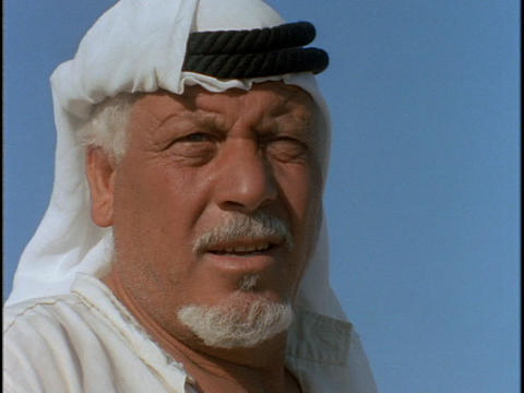 An Arab man nods his head Stock Video Footage