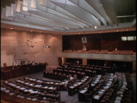 The Israeli Parliament meets inside the Knesset Footage