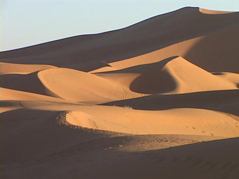 Desert Sand Blows Across The Desert Floor stock footage