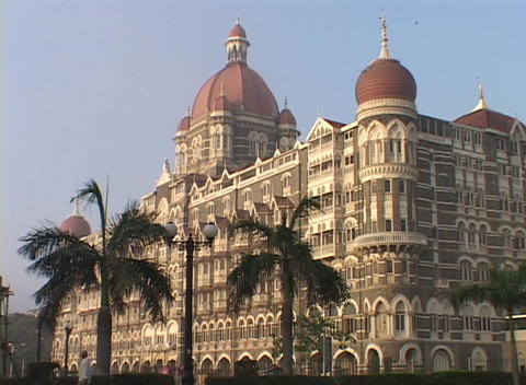 The Taj Mahal Hotel In Bombay India stock footage