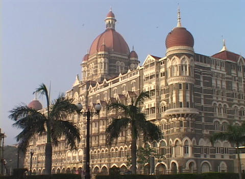 The Taj Mahal hotel in Bombay India Stock Video Footage