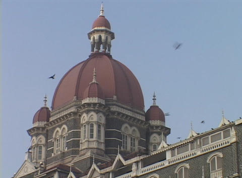 The exterior dome of the Taj Mahal Hotel in Bombay, India... Stock Video Footage