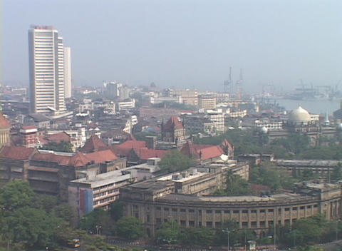 A high angle view of Bombay India Stock Video Footage