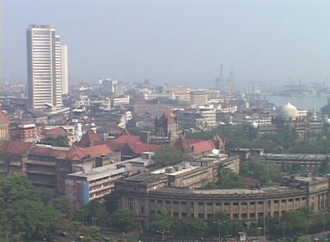 A high angle view of Bombay India Footage