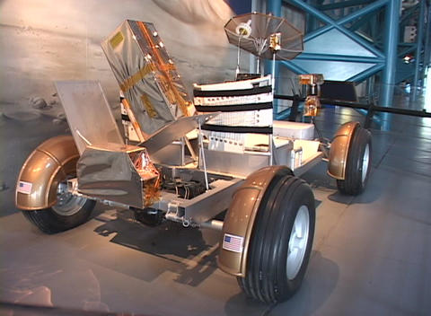 A scientific invention sits on display at the Kennedy Space Center Footage