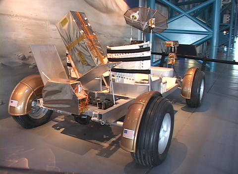 A scientific invention sits on display at the Kennedy... Stock Video Footage