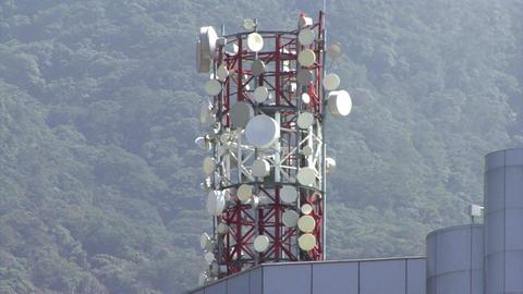 Telecommunications antenna tower Footage