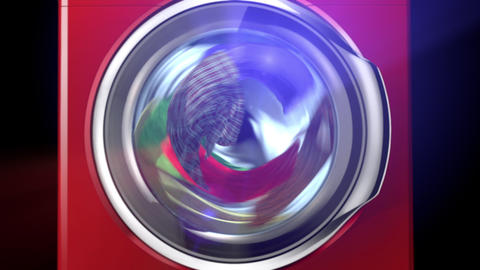 Abstract Washing Machine Animation