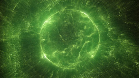 Green and exotic spherical object Stock Video Footage