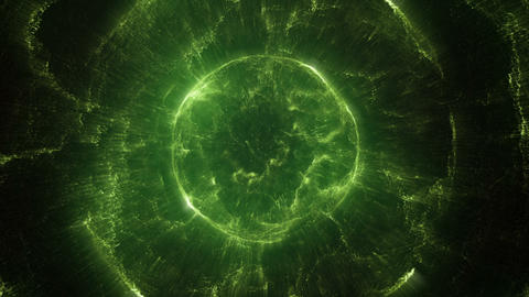 Green and exotic spherical object Animation