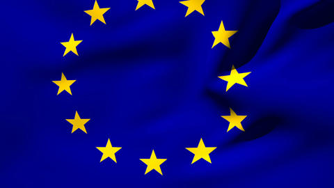Europe flag waving Live Action