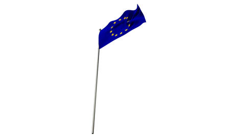 Close-up of europe flag waving Live Action