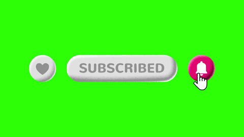 Grain Shaded Like Subscribe and Notifications Buttons on… Stock Video Footage