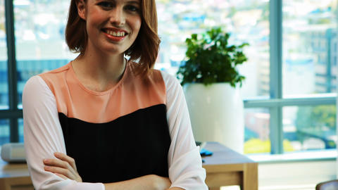 Confident female executive in office Live Action