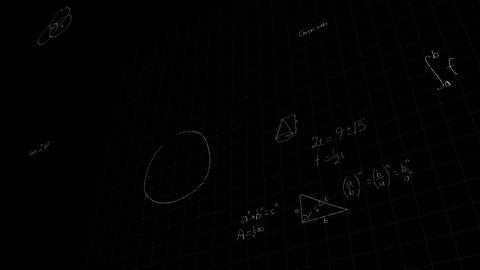 Math formulas on blackboard Live-Action
