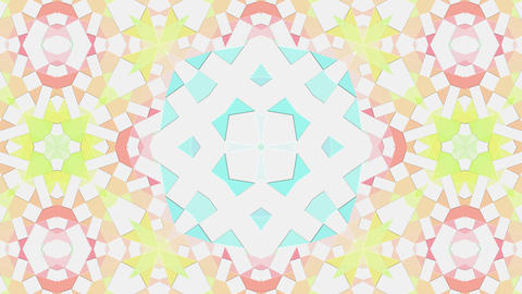 Colorful abstract tiles art kaleidoscope animation background Animation