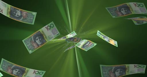 Flying Australian Dollar Animation