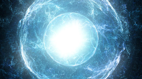 Blue source of light and energy Animation